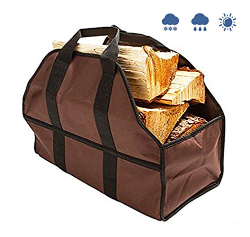SYOOY Large Firewood Log Carrier and Holder Firewood Log Tote Durable Oxford Cloth for Fireplace Stove 24