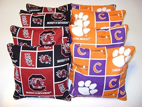 8 Cornhole Bean Bags Clemson Tigers Usc South Carolina Gamecocks - Outlet In Carolina South Stores