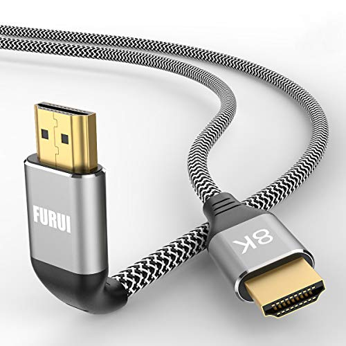 8K HDMI Cable 6ft, FURUI Nylon Braided 2.1 HDMI Cable, CL3 Rated Support Dolby Atmos, 8K@60Hz, 4K@120Hz, Ultra Speed 48Gbps, eARC, HDCP 2.2 & 2.3, Dynamic HDR Compatible with Apple TV, Roku, Xbox, PS4