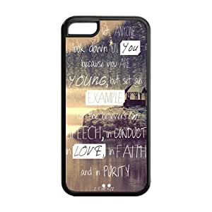 Generic Christian Jesus Bible Verse Hard Plastic Durable Cover Case for iPhone 6 (4.7)