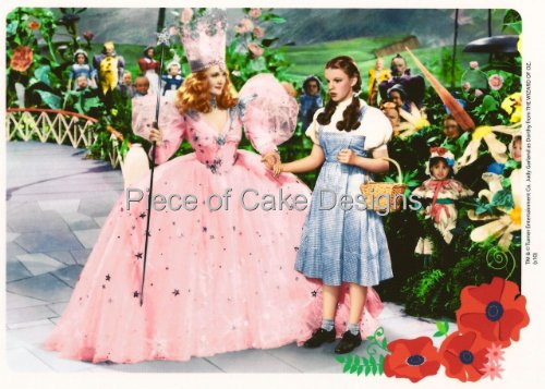 1/4 Sheet ~ Wizard of Oz Glenda & Dorothy Birthday ~ Edible Image Cake/Cupcake Topper!!!
