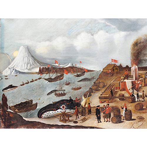 Abraham Speeck Danish Whaling Station Extra Large Wall Art Print Premium Canvas -