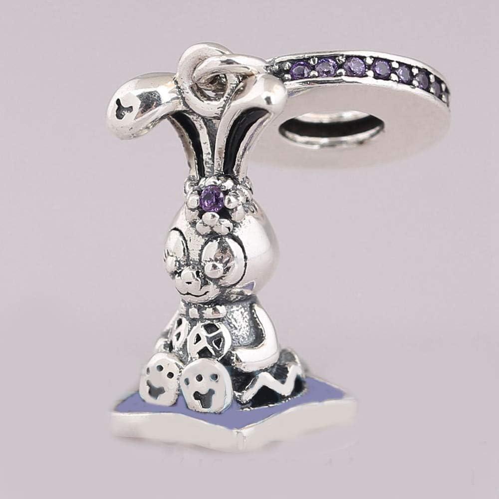 Calvas Diseny Parks StellaLou Charm Beads 100/% Real 925 Sterling Silver Horn Charm Beads Fit Original Bracelet DIY Jewelry 2018