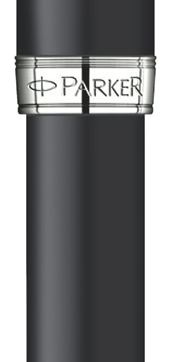 Parker Matte Black Lacquer with Chrome Colour Trim, Rollerball Pen with Fine Black refill (S0818110) by Parker (Image #2)