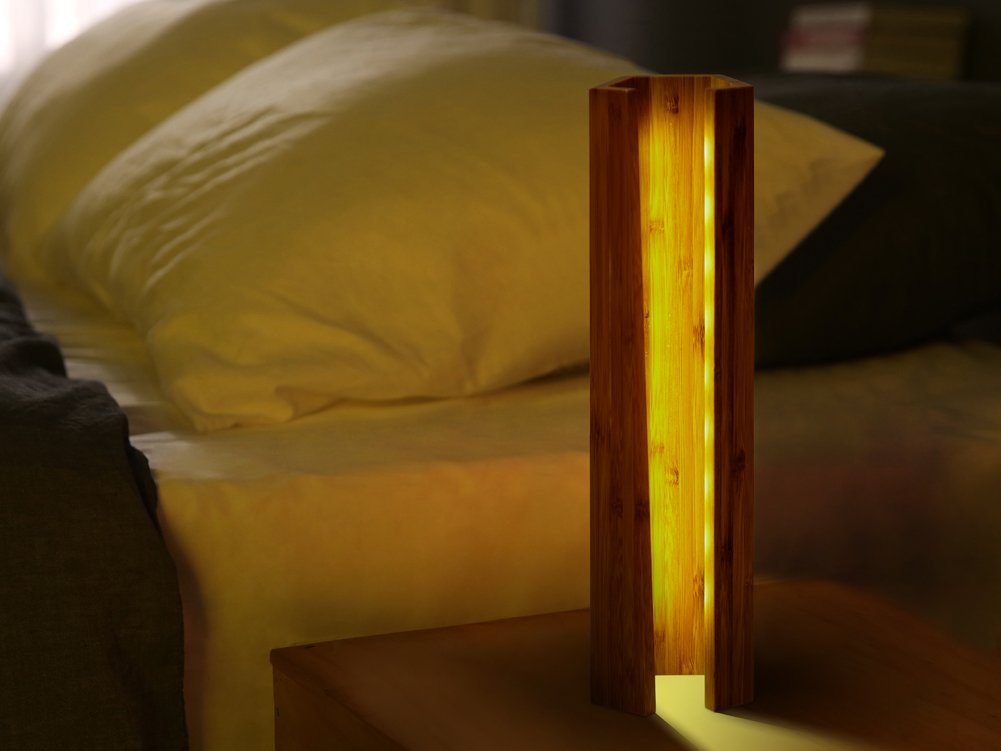 ChasBete LED Night Lamp Wooden Dimmable Bedside Lamp for Bedroom Living Room Decor Warm Classical Table Lamp Desk Night Light by ChasBete (Image #5)