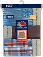 Fruit of the Loom Big Boys' Exposed Waistband Woven Boxer