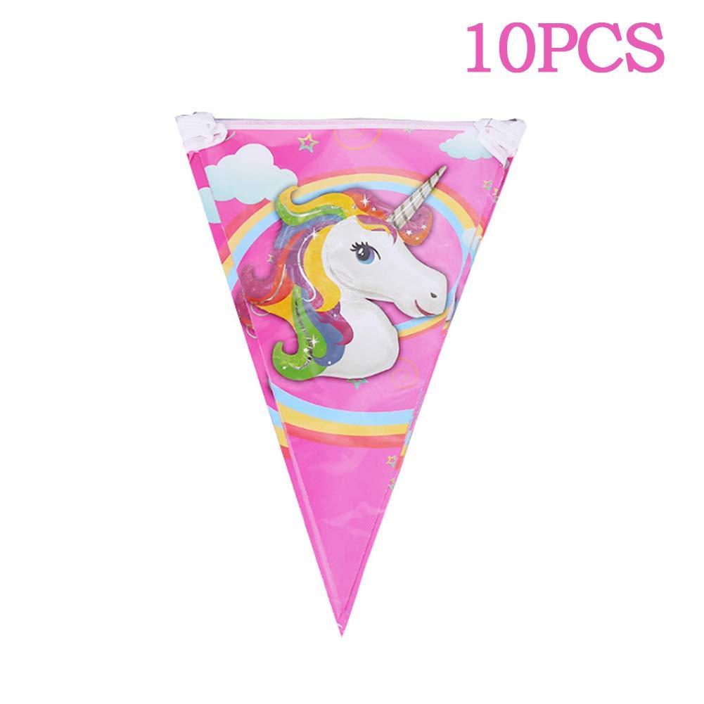 10pcs Unicorn Piastra Cartoon Unicorn Party Decoration Birthday Party Decoration Unicorn Feste A Tema