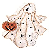 Frightened Ghost Rustic Stars 12.5 x 13 Inch Wood Tabletop Stander Halloween Figurine