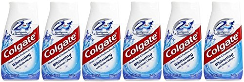 Whitening Fluoride Toothpaste Liquid - Colgate 2-in-1 Whitening With Stain