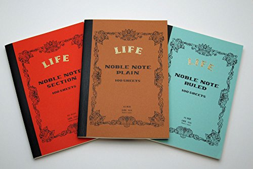 Life Noble Notes Bound On Side Stitched Notebooks: 6 in. x 8 in. (Blue Cover, Lined Pages)