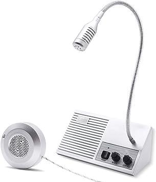 Noir Elikliv Anti-interference Deux Sens Interphone Haut Parleur Compteur Interphone Fen/être Microphone Interphone Pour Verre Fen/être Parler Fen/être Interphone