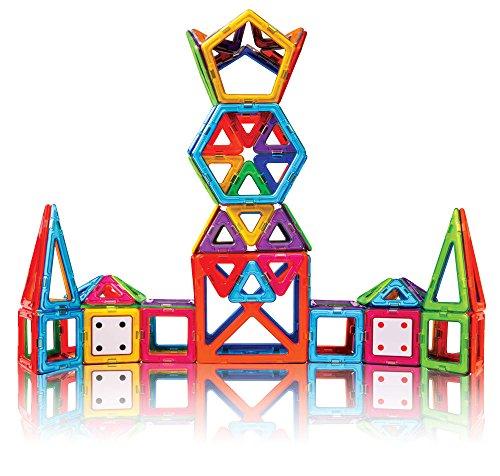 51nP7zjwQgL - Magformers Smart Set (144-piece ), Deluxe Building Set. magnetic building blocks, educational magnetic tiles, magnetic building STEM toy set