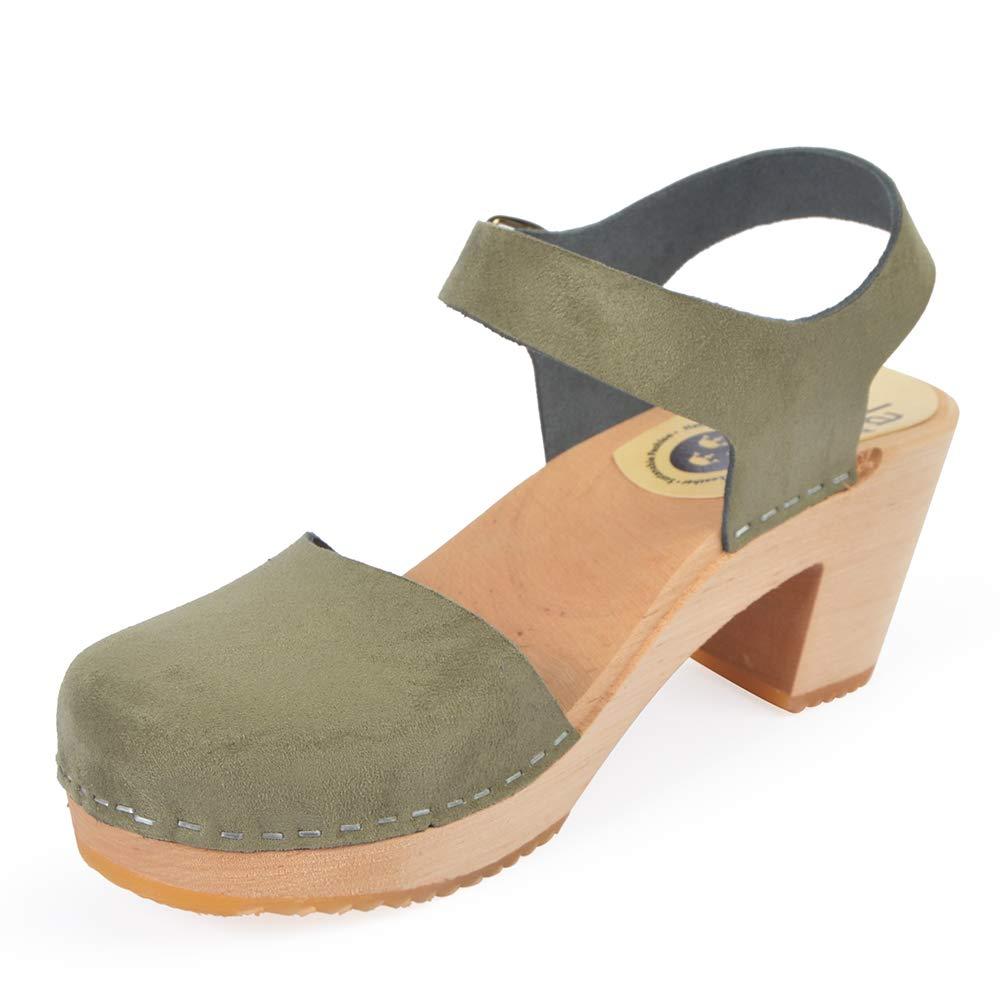 Size 38 Skola Womens Susannah Clog Green