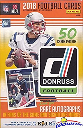 2018 Donruss Nfl Football Huge 50 Card Factory Sealed Hanger Box With 4 Rookies 4 Parallels 10 Inserts Look For Rcs Autos Of Baker
