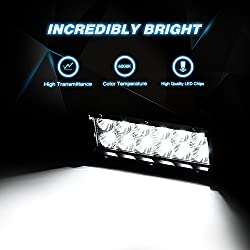 Nilight Led Light Bar 2PCS 36w 6.5Inch Flood Led O
