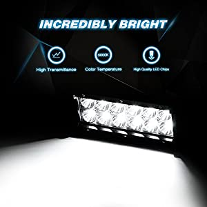 Nilight Led Light Bar 2PCS 36w 6.5Inch Flood Led Off Road Lights Super Bright Driving Fog Light Boat Lights Driving Lights Led Work Light SUV Jeep Lamp,2 Years Warranty