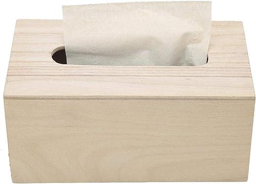 Caja de pañuelos, Rectángulo de Madera Práctico Soporte de Papel ...