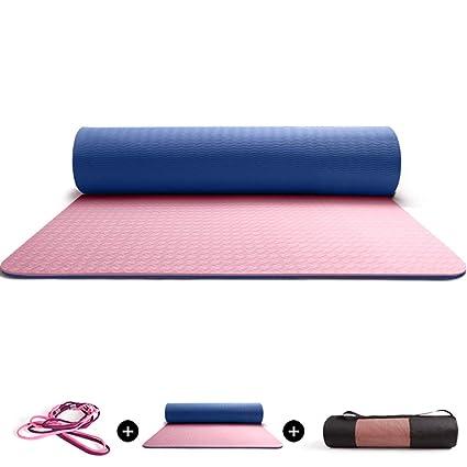 Amazon.com : DJDL Yoga Mat Eco Friendly 6/8mm Thickness ...