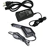 Super Power Supply® AC / DC Adapter Charger Cord 2 in 1 Combo Wall + Car for HP Compaq NC6000 NC6100 NC6140 NC6200 NX4300 NX5010 NX6105 NX7000 NX7010 nc4000 nc4010 nc6110 nc6120 nc6220 nc6230 nx5000 nx6110 nx6115 nx Netbook Notebook Battery Plug