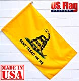 Cheap US Flag Factory 2.5'x4′ Gadsden Flag (Pole Sleeve) DON'T TREAD ON ME Outdoor SolarMax Nylon Flag – 100% Made in America