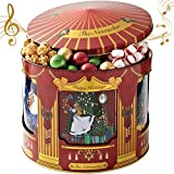 Chocolate Popcorn Gift Basket - Gourmet Food Gifts Prime Delivery - Plays Music - Chocolate & Popcorn Gift Tin, Assortment Basket - Nutcracker Suite - Men, Women & Families - Bonnie & Pop
