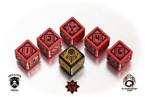 Q WORKSHOP Warmachine Khador Faction RPG Dice Set 6 x D6