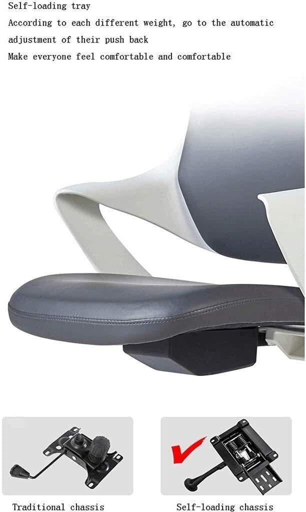 DBL kontorsstol hög rygg läder verkställande dator skrivbordsstol, justerbar lutningsvinkel nackstöd ländrygg stöd ergonomisk svängbar stol skrivbordsstolar (färg: blå) gUL
