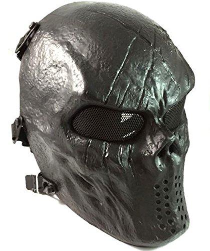 ATAIRSOFT Airsoft Paintball Hockey Full Face Metal Mesh Eye BB Protect Full Face Mask Cosplay M06 (Camo Hockey Mask)