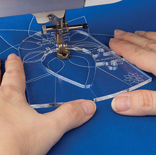 (Sewing Tools New Ruler Template Sampler Set for Domestic Sewing Machine 1 Set = 6Pcs #Rl-06)