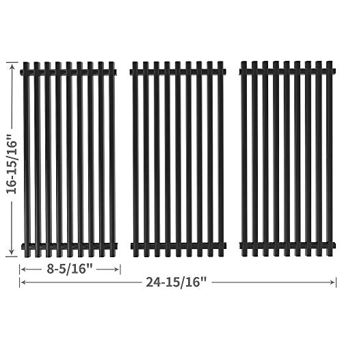 SHINESTAR 16-15/16 inch Grill Grate Replacement for Charbroil 463251606, Kenmore, Thermos 461246804, Broil King, Master Chef, Porcelain Steel BBQ Cooking Grate Barbecue Grid Parts(SS-KW007, 3 Packs) - Thermos Gas Grill Parts