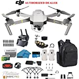 DJI Mavic Pro Platinum - Drone - Quadcopter - 4K Professional Camera Gimbal - Bundle - Kit - with 2 Batteries - with Must Have Accessories - with Backpack