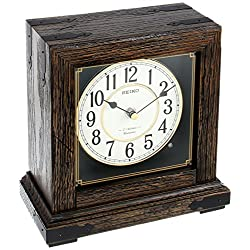 Seiko QXW234BLH Desk/Table Japanese Quartz Shelf Clock