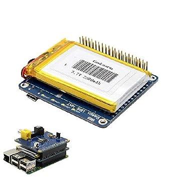UPS HAT Board + 2500mAh Battery for Raspberry Pi 3 Model B/Pi 2B