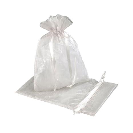 Organza Bags - Bolsas (organza, tamaño grande), color blanco ...