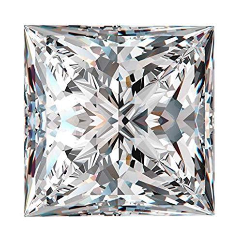 Diamonbella 101 Facets Realistic White Fire Princess Cut Loose Simulated Diamond 1 2 Carats