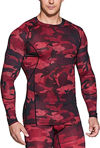 TSLA 1, 2 or 3 Pack Men's Cool Dry Fit Long Sleeve Compression Shirts, Athletic Workout Shirt, Sports Base Layer T-Shirt