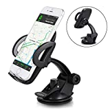 Car Phone Mount, Windshield Dashboard Adjustable Cell Phone Holder for Car, Strong Suction Cup Cell Phone Holder Compatible Smartphones X /8/7s/6s, Galaxy S9 S8 S8 Plus S7, Note 9/8 More