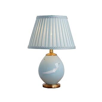Reines Kupfer Keramik Tischlampe Schlafzimmer Nachttischlampe Warm