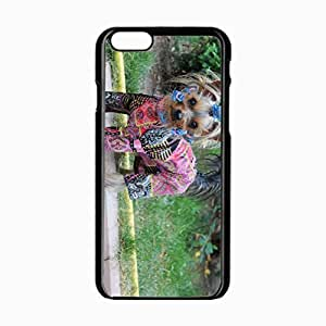 iPhone 6 Black Hardshell Case 4.7inch yorkshire terrier dog puppy Desin Images Protector Back Cover