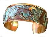 Verdigris Patina Contemporary Running Horse Cuff Bracelet