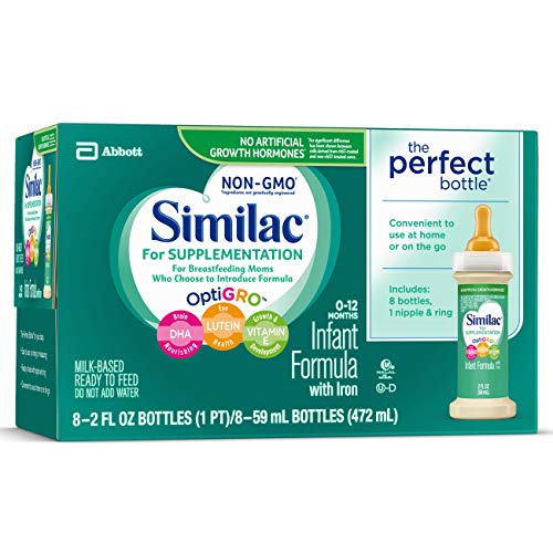 Similac For Supplementation Infant Formula with Iron, Ready-to-Feed Bottles, 2 Ounce, (48 ct) by Similac (Image #5)