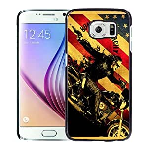 Fashionable Custom Designed Samsung Galaxy S6 Phone Case With Sons Of Anarchy TV Series_Black Phone Case