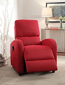 Acme Furniture 59345 Croria Recliner with Power Lift, Red Fabric