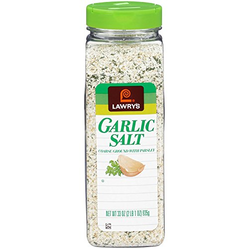 Lawrys Garlic Salt Larger Catering Size 935g Tub - Pack of 2