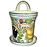 CERAMICHE D'ARTE PARRINI- Italian Ceramic Utensil Holder Vessel Hand Painted Made in ITALY Tuscan Art Pottery