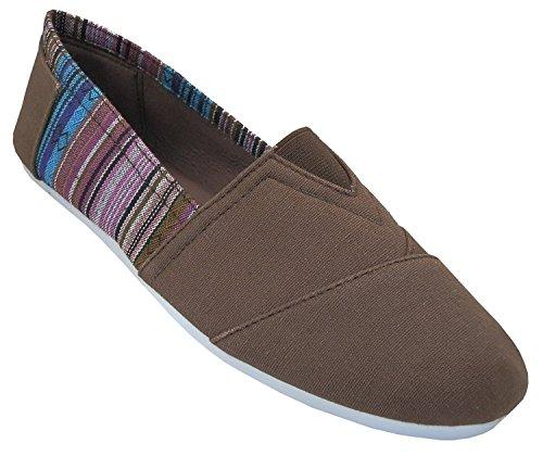 Scarpe 18 Scarpe Da Donna Slip On Shoes Appartamenti 2 Toni 10 Colori Marrone 308l