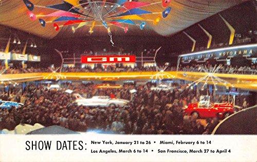 Vintage Ad Car (GM Motorama 1954 Car Show Dates Ad Vintage Postcard K84281)