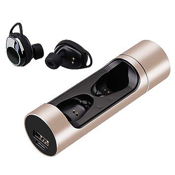Hangrui Auriculares Bluetooth,Auriculares Inalámbricos Auriculares Manos Libres con Microfono y Cancelación de Ruido IPX7 a Prueba de Agua para iOS Samsung ...
