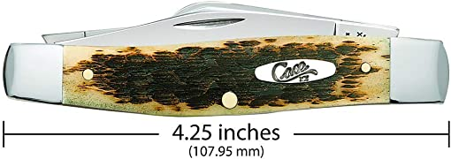 CASE XX WR Pocket Knife Amber Jigged Bone Large Stockman Cv Item 204 – 6375 Cv – Length Closed 4 1 4 Inches