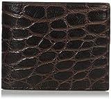 Bruno Magli Men's Croco Wallet, Brown, One Size